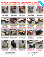 Used and pre owned office furniture in ct connecticut new for P s furniture flyer
